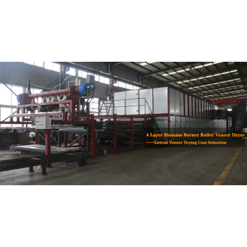 4-deck Veneer Roller Dryer with Automatic Feeder