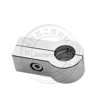 Square shape round chrome tube 25mm connector
