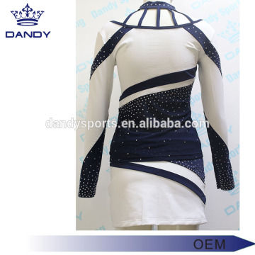 Blue And White Cheerleading Uniforms For Kids