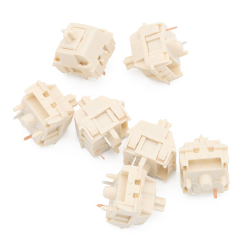 NovelKeys x Kailh Cream switch 4pin 5pin RGB SMD linear 55g force 5pin mx stem switch for backlit mechanical keyboard 50m