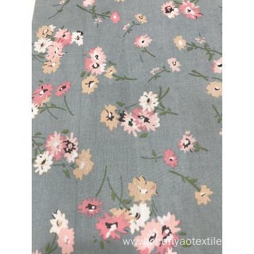 Plain Color Style Cotton Linen Printed Fabric