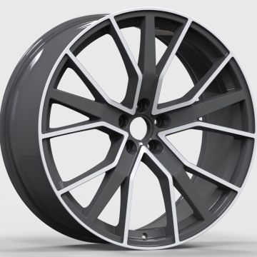 Alloy Custom Audi Wheel 22x.5 Black Polished