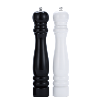 Large rubber wood pepper mill