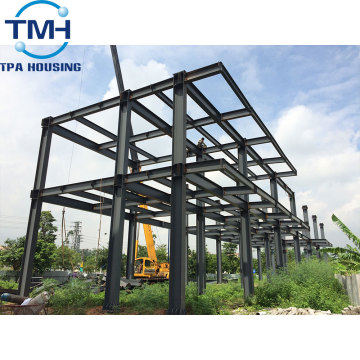 prefabricated two storey steel structure warehouse design