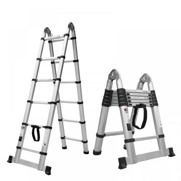Double side aluminum telescopic ladder