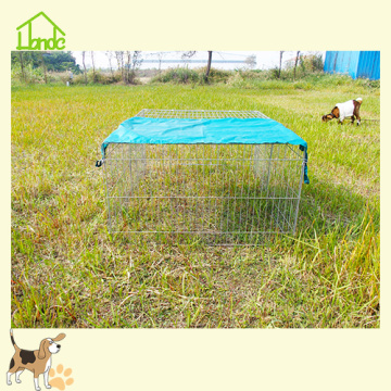 Galvanized Folding Rabbits Cage With Green Cover