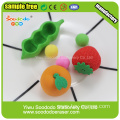 Rubber Fruit Shaped Eraser For School Students