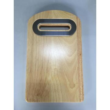 wood cutting board with centered handle