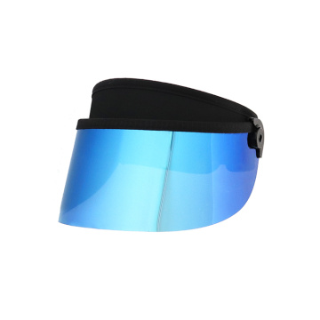 Sun visor hat with ice blue PC len
