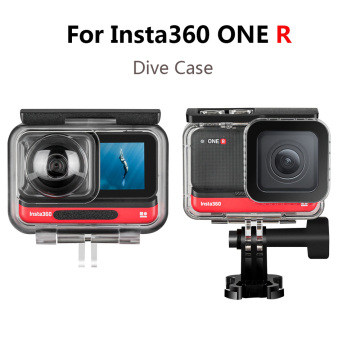 For Insta360 ONE R Dive Case ,4K Wide Angle /Dual-Lens 360 Mod Waterproof Box For Insta 360 R Accessories