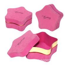 Printing Logo Lip Top Star Shape Gift Box