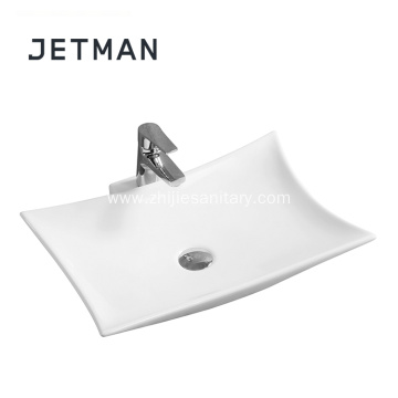 square ceramic  bathroom vanity art basin