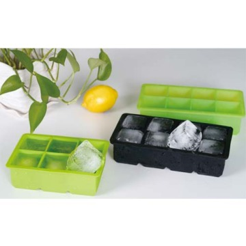 8 cavity 2*2inch Colorful silicone ice cube tray
