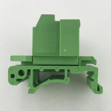 straight Pluggable Din rail terminal block with flanges