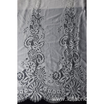 100% Nylon Panel Lace Fabric Design-D