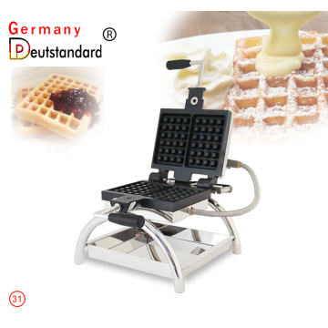 Commercial rotary waffle cone maker