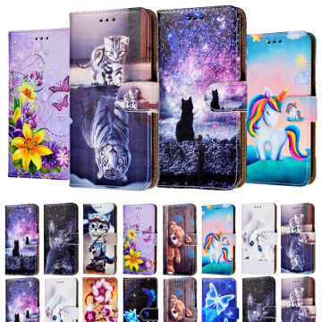 Leather Flip Case For Huawei Honor 7S 8S 8A Y3 2017 Y5 II Y6 Prime 2018 Y7 2019 Y9 Prime 2019 Back Phone Cover Wallet Stand Bag