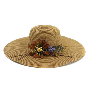 Adjustable large brim beach straw hat face shield