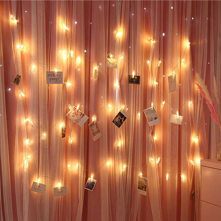 20 led photo clips string lights for hanging