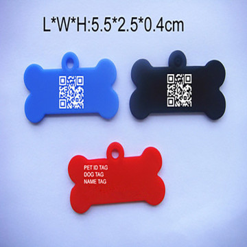 Custom Cute Food Grade Silicone Pet Tags