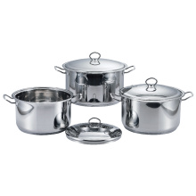 Stainless Steel Belly Shape Cookware Set