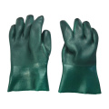 11inch Green Double dipped pvc gloves