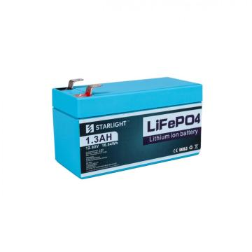 12.8V 1.3AH LiFePO4 Battery to Replace Lead-Acid Battery
