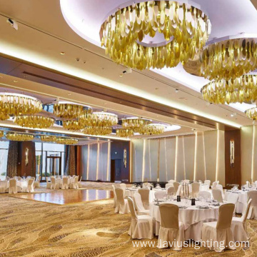 Wedding hotel customized project crystal chandelier