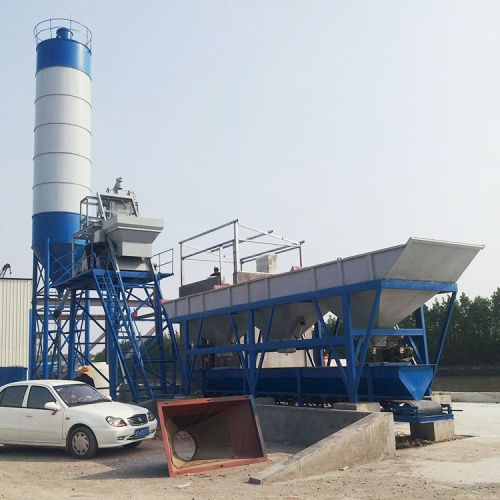 HZS small ready-mixed concrete batching plant Canada