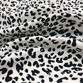 Recycled Stretch Leopard Print 100% Polyester Ladies Fabric