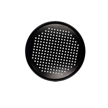 "12"" Round Perforated Steam Pan-Black"