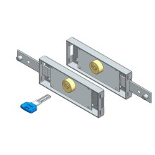 Roller shutter lock set computer key straight bolt
