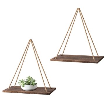 Eastommy new wooden 2 pcs Wall Hanging Shelf