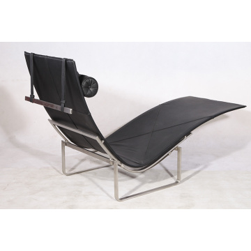 Leather Poul Kjaerholm PK24 lounge chair replica