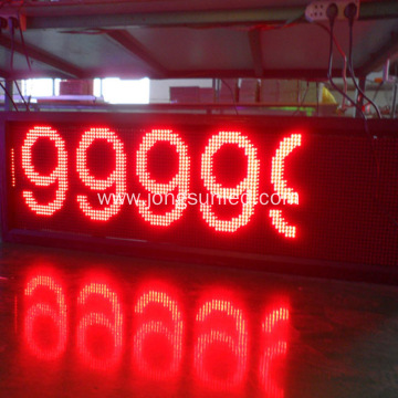 320x160 Outdoor P10 LED Display Module Red Color