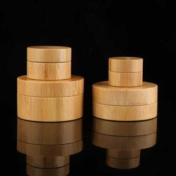 Kosmetisk Bambu Cream Flaska Wood Bamboo Cream Jar