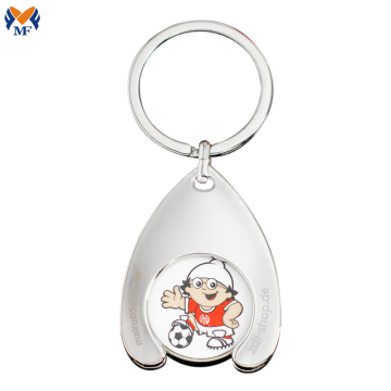 Gift Metal Custom Trolley Coin Keychain