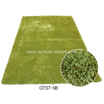 Polyester Elastic & 1200D Silk Shaggy Carpet / Rug Plain Color