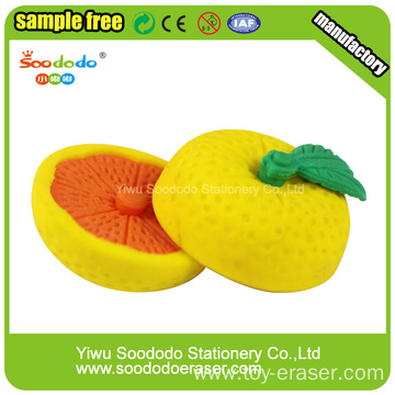 Orange Shaped Eraser for Children.Gift target eraser