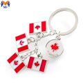 Metal customized country flag logo keychain