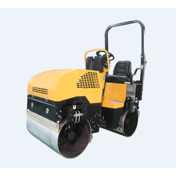 Factory new mini double wheel vibratory roller compactor