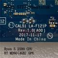 R5 2500 CPU FOR DELL INSPIRON 5575 5775 Laptop Motherboard CAL51 LA-F121P R7 M260(4GB)GPU +Heatsink CN-0THTD8 THTD8 Mainboard
