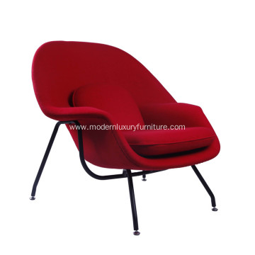 Klasikong Eero Saarinen Womb Red Cahsmere Lounge Chair