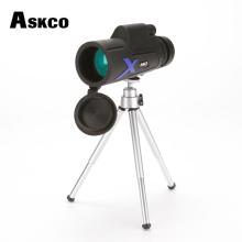Excellent Askco 20x50 Monocular Telescope Bak4 Prism Optics Outdoor Camping Hunting Binoculars Bird Watching Travel Telescope