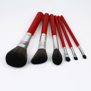 6piece red color Best Brush Sets for Makeup