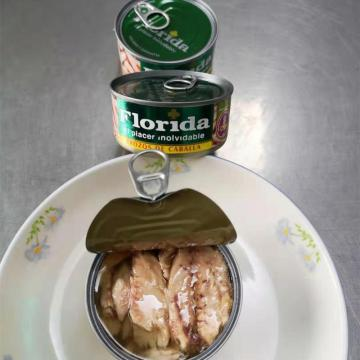Canned Mackerel Fillet in Soybean Oil