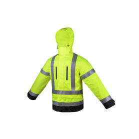 Fluorescent Yellow Construction Hi Vis Jacket