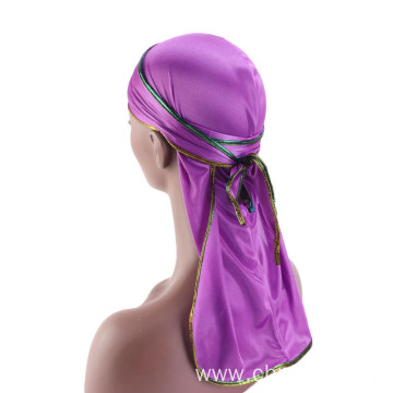 Custom hair accessories polyester turban bandanas hats