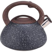 Black Frosted Stainless Steel Whistling stovetop Teapot