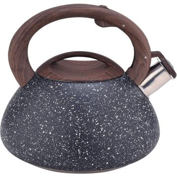Black Frosted Stainless Steel Whistling Water Kettle